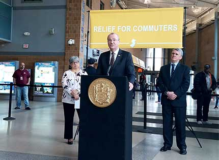 Murphy unveils temporary NJ Transit relief